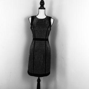 EUC Michael Kors Dress. Black w/ silver Studs Sz 6